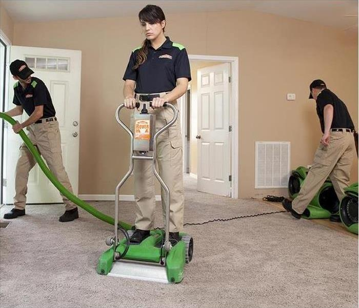 Servpro crew cleaning